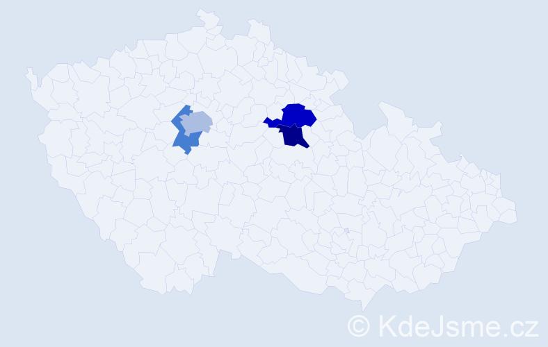 Příjmení: 'Freiburg', počet výskytů 7 v celé ČR