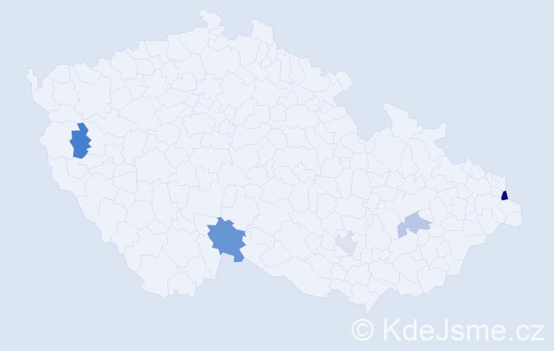 Příjmení: 'Cannon', počet výskytů 8 v celé ČR