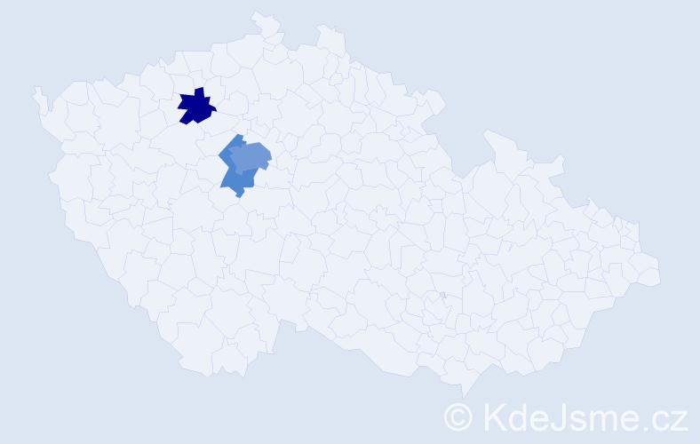 Příjmení: 'Ceznerová', počet výskytů 7 v celé ČR