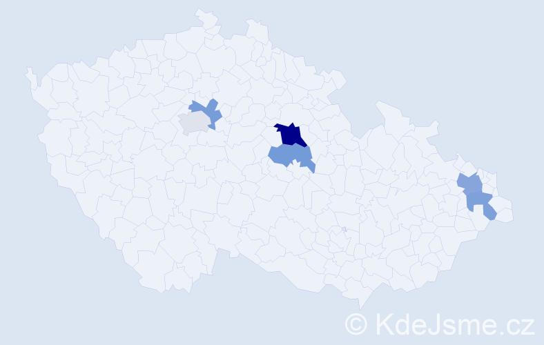Příjmení: 'Citta', počet výskytů 10 v celé ČR