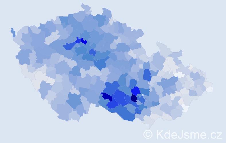 Příjmení: 'Pokorná', počet výskytů 11159 v celé ČR