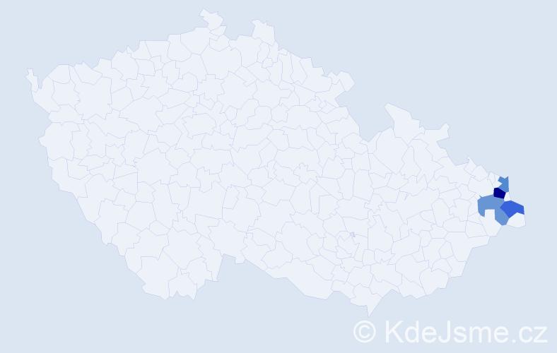 Příjmení: 'Herdzinová', počet výskytů 11 v celé ČR