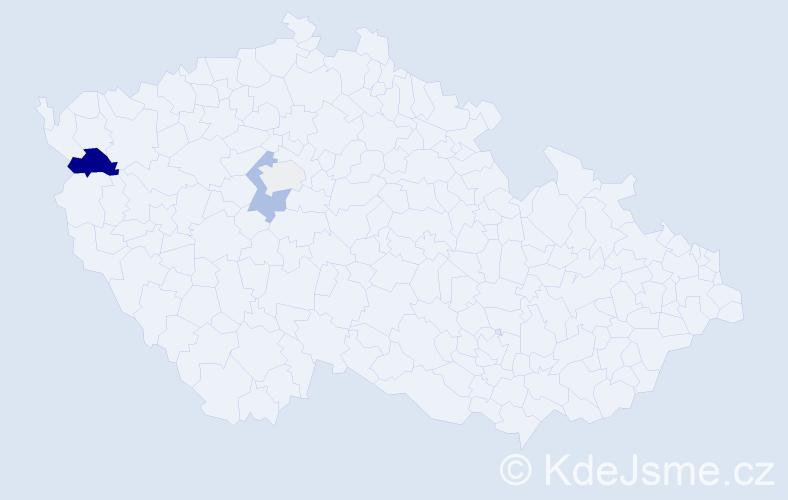 Příjmení: 'Coculová', počet výskytů 7 v celé ČR