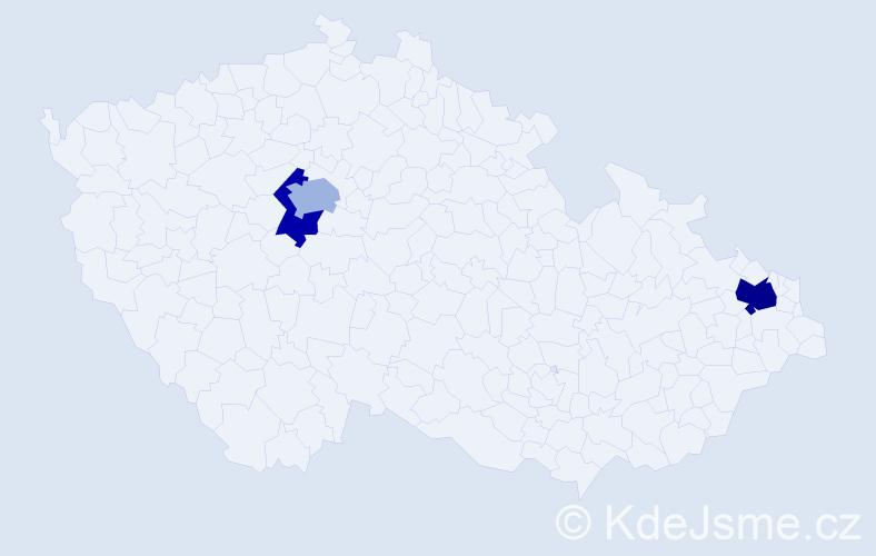 Příjmení: 'Geffertová', počet výskytů 14 v celé ČR