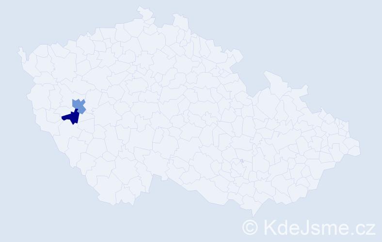 Příjmení: 'Kajlová', počet výskytů 3 v celé ČR