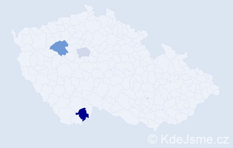 Příjmení: 'Bild', počet výskytů 9 v celé ČR