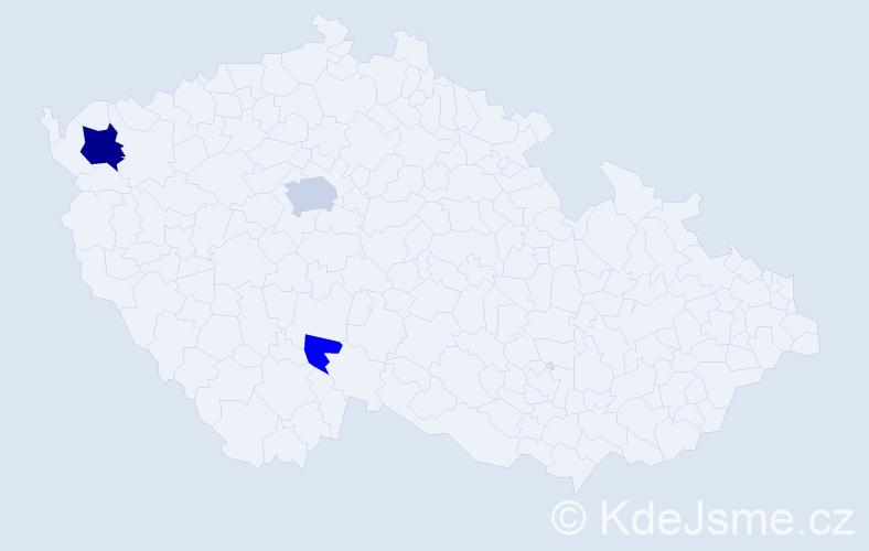 Příjmení: 'Hlasivec', počet výskytů 8 v celé ČR
