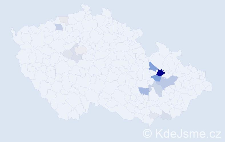 Příjmení: 'Kořalka', počet výskytů 44 v celé ČR