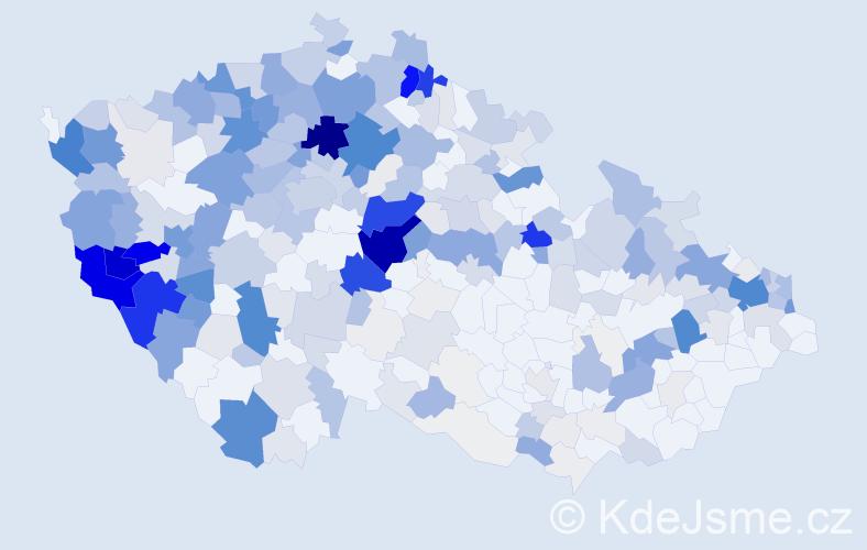 Příjmení: 'Červeňák', počet výskytů 1966 v celé ČR