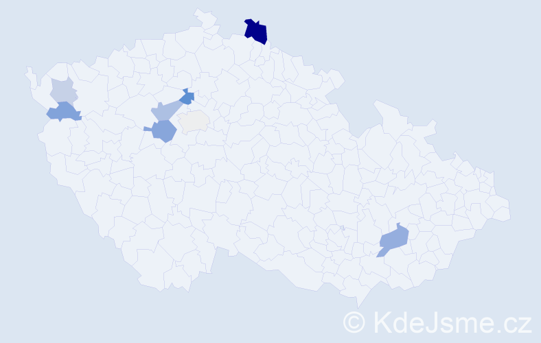 Příjmení: 'Babuka', počet výskytů 15 v celé ČR