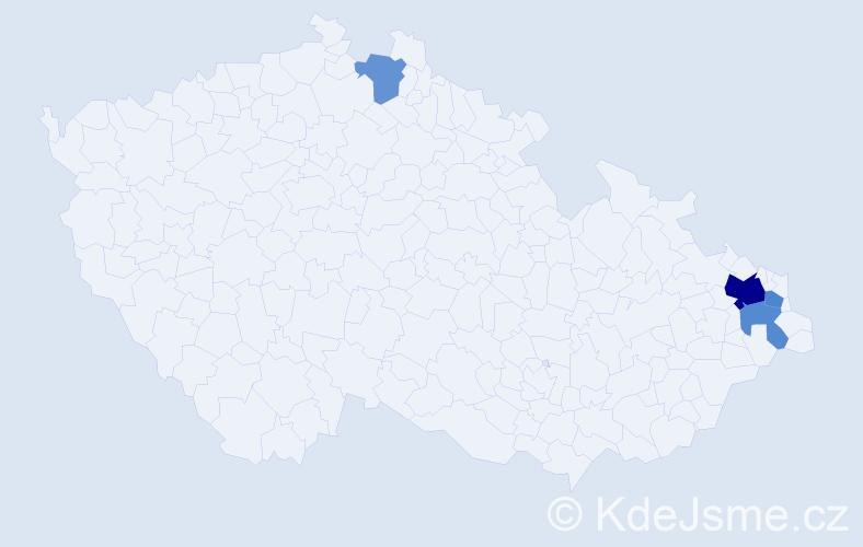 Příjmení: 'Grabař', počet výskytů 8 v celé ČR