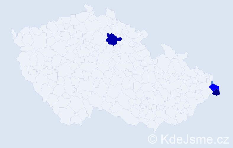 Příjmení: 'Kadlubec', počet výskytů 11 v celé ČR