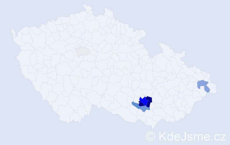 Příjmení: 'Frišaufová', počet výskytů 29 v celé ČR