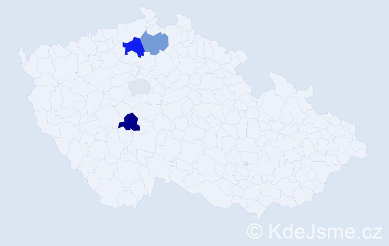 Příjmení: 'Feldsteinová', počet výskytů 5 v celé ČR