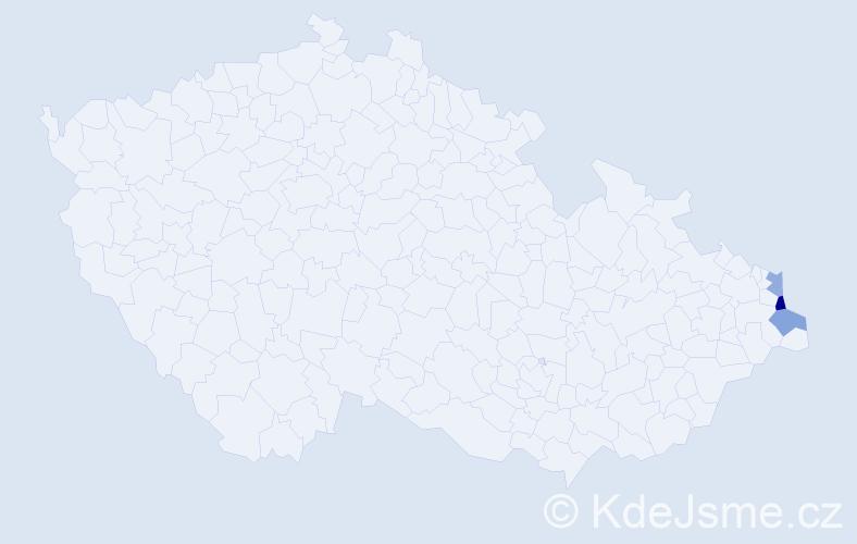 Příjmení: 'Kałužová', počet výskytů 4 v celé ČR
