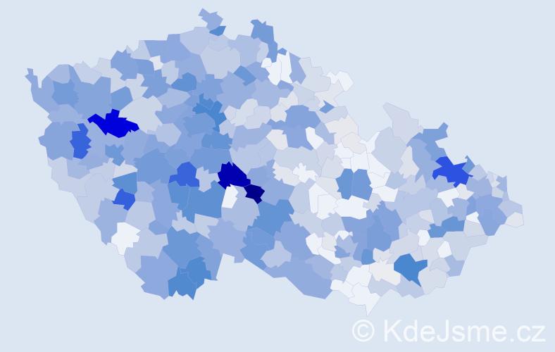 Příjmení: 'Burda', počet výskytů 2425 v celé ČR