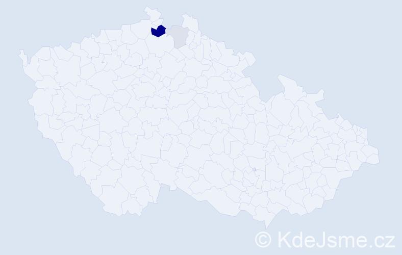 Příjmení: 'Iwanejko', počet výskytů 7 v celé ČR