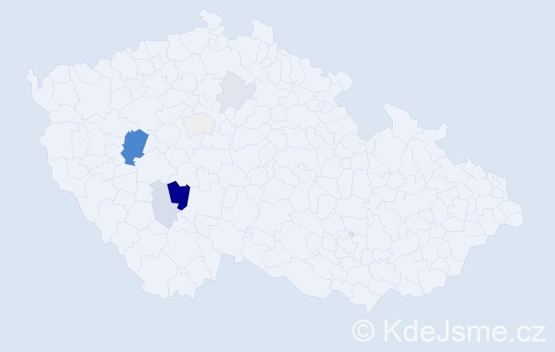 Příjmení: 'Komasová', počet výskytů 20 v celé ČR