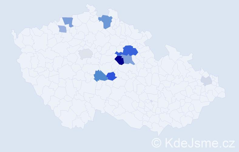 Příjmení: 'Bábovková', počet výskytů 20 v celé ČR