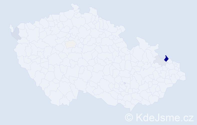 Příjmení: 'Glabasnia', počet výskytů 21 v celé ČR