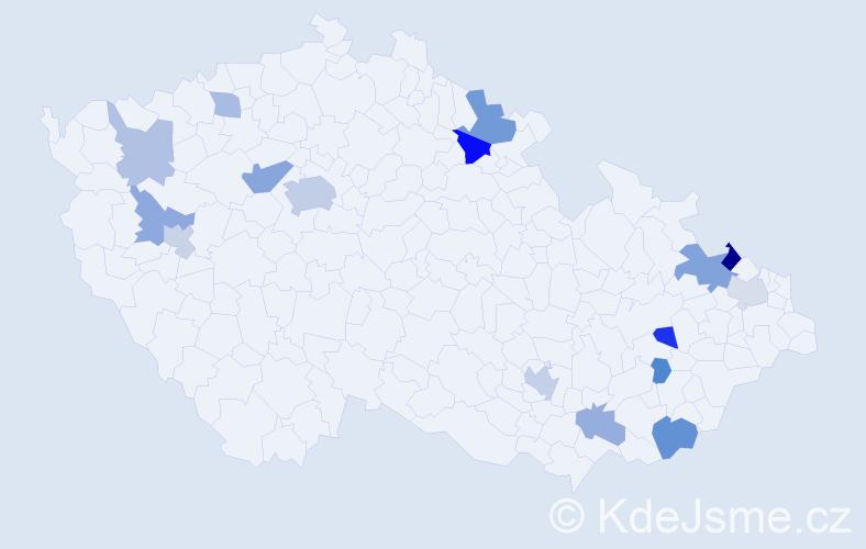 Příjmení: 'Antonov', počet výskytů 28 v celé ČR
