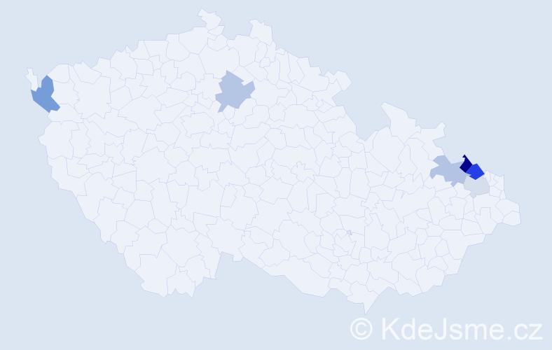 Příjmení: 'Kampík', počet výskytů 18 v celé ČR