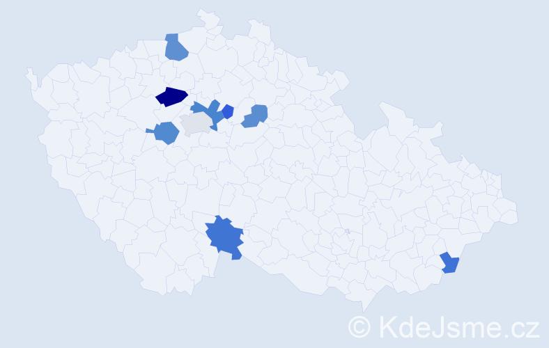 Příjmení: 'Grábnerová', počet výskytů 18 v celé ČR