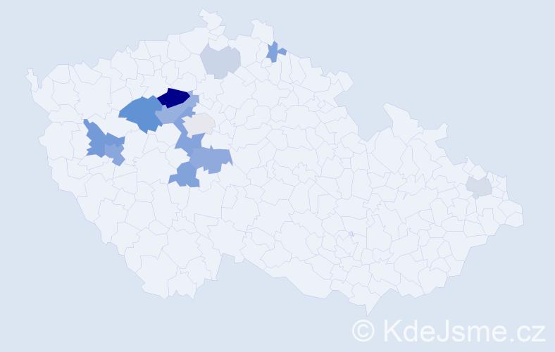 Příjmení: 'Breníková', počet výskytů 37 v celé ČR