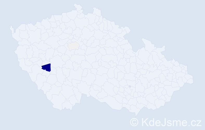 Příjmení: 'Goodenough', počet výskytů 5 v celé ČR