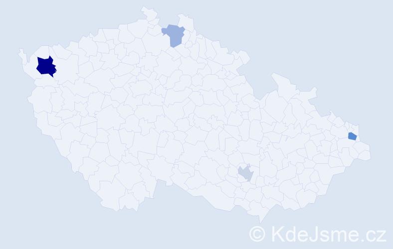Příjmení: 'Kinková', počet výskytů 8 v celé ČR