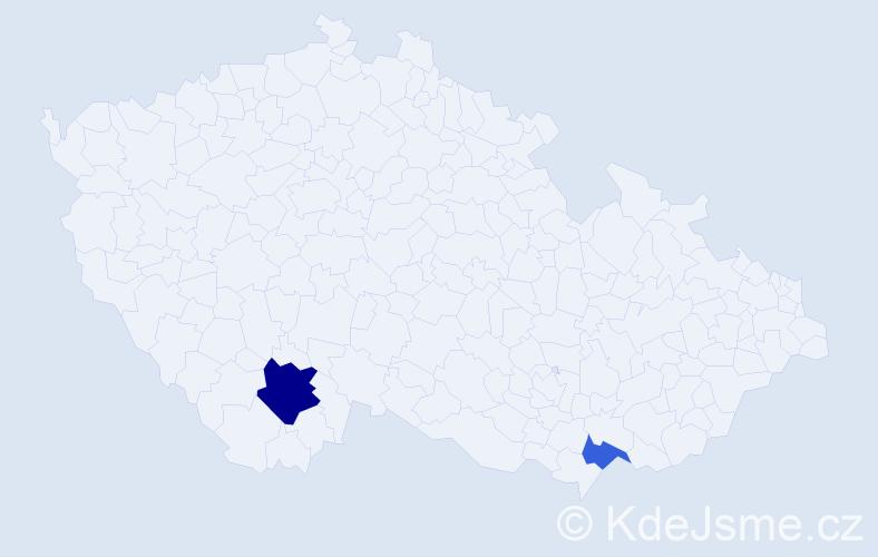 Příjmení: 'Lasica', počet výskytů 4 v celé ČR