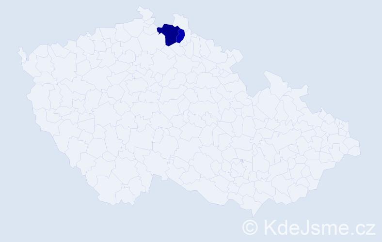 Příjmení: 'Halamček', počet výskytů 3 v celé ČR