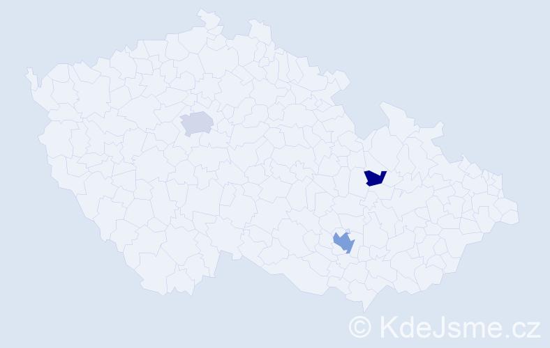 Příjmení: 'Hykrda', počet výskytů 14 v celé ČR