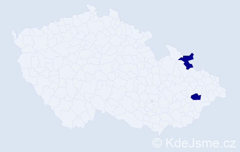 Příjmení: 'Canham', počet výskytů 2 v celé ČR