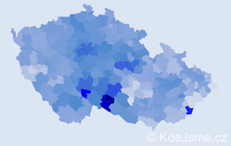 Příjmení: 'Novák', počet výskytů 33881 v celé ČR