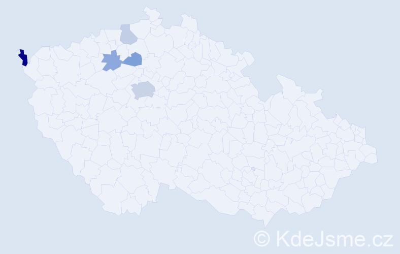 Příjmení: 'Kléger', počet výskytů 11 v celé ČR