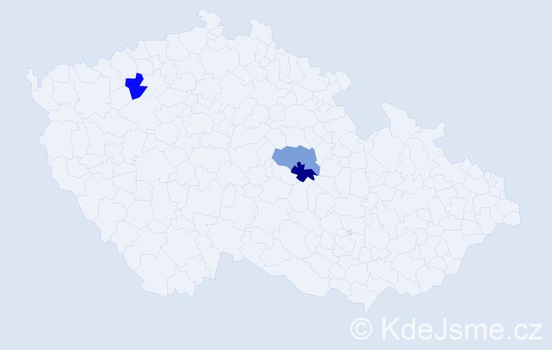 Příjmení: 'Biška', počet výskytů 3 v celé ČR
