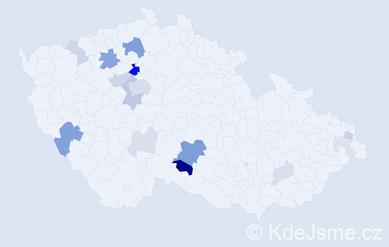 Příjmení: 'Bukvaj', počet výskytů 52 v celé ČR