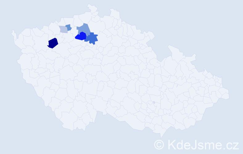 Příjmení: 'Gramskopf', počet výskytů 12 v celé ČR