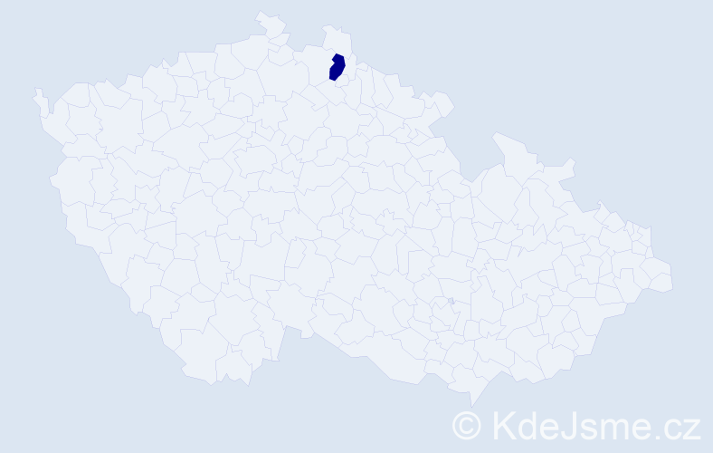 """Příjmení: '""""Jiráková Trnková""""', počet výskytů 1 v celé ČR"""