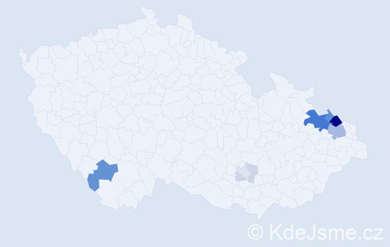 Příjmení: 'Galdia', počet výskytů 34 v celé ČR