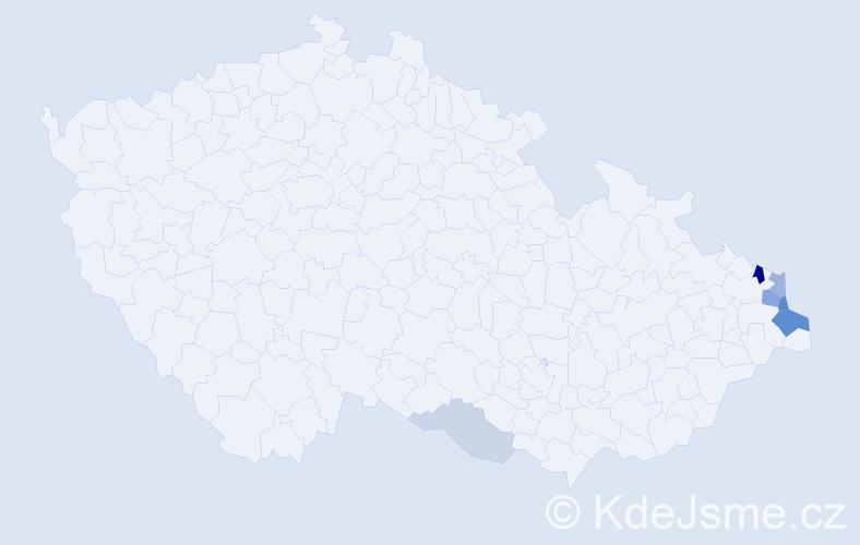 Příjmení: 'Iwanuszek', počet výskytů 17 v celé ČR