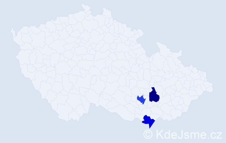 Příjmení: 'Bachmayer', počet výskytů 5 v celé ČR