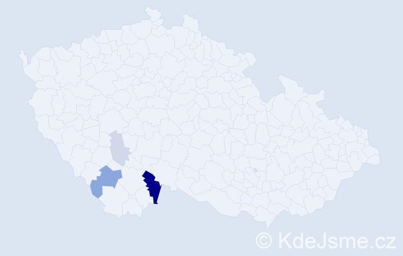 Příjmení: 'Beníschková', počet výskytů 10 v celé ČR