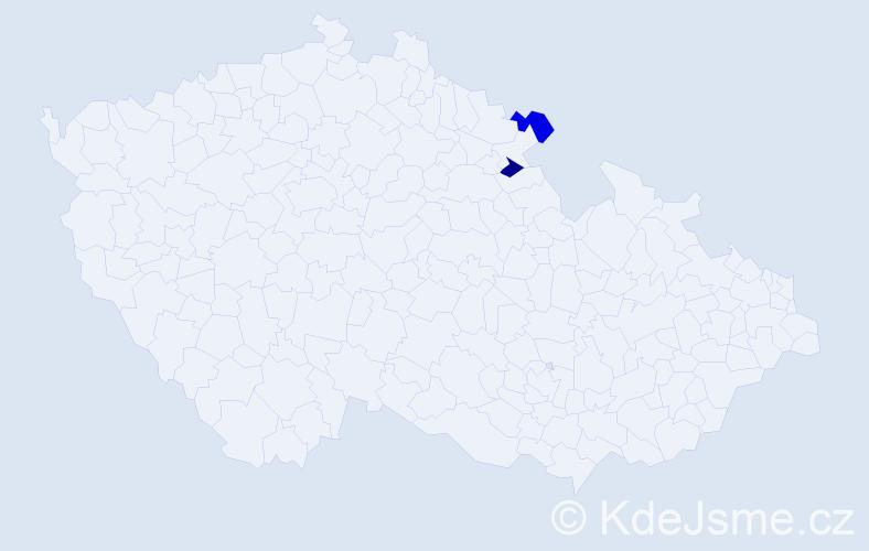 Příjmení: 'Jurčíová', počet výskytů 4 v celé ČR