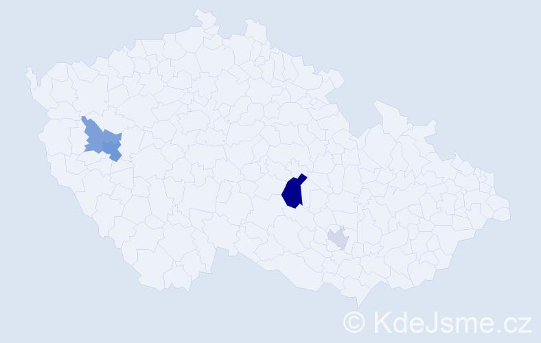 Příjmení: 'Göttlerová', počet výskytů 8 v celé ČR