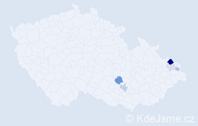 Příjmení: 'Ležoň', počet výskytů 9 v celé ČR