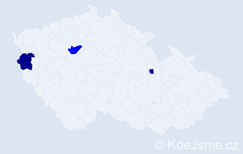 Příjmení: 'Dolínská', počet výskytů 7 v celé ČR