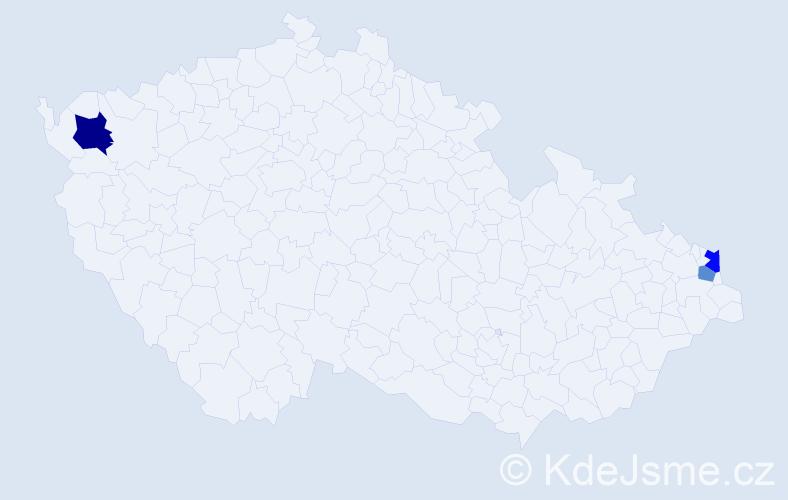 Příjmení: 'Golkovský', počet výskytů 9 v celé ČR