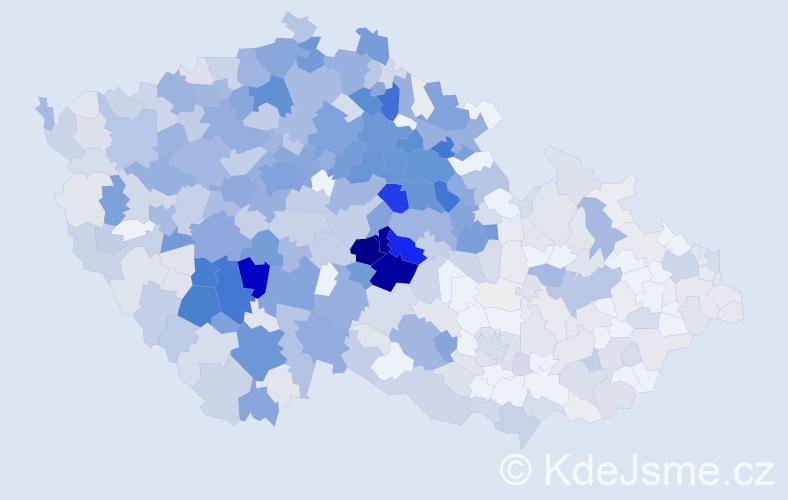 Příjmení: 'Čapek', počet výskytů 2848 v celé ČR